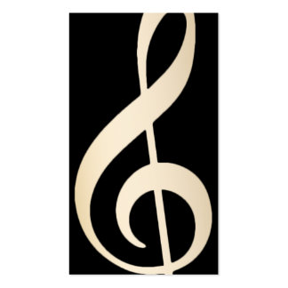 Music Vocal Teacher Modern Black & Gold Musical Pack Of Standard Business Cards