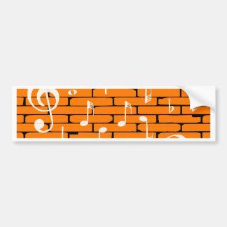 Music Wall Background Bumper Sticker