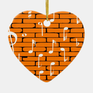 Music Wall Background Ceramic Heart Decoration