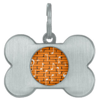 Music Wall Background Pet ID Tag