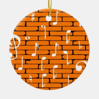 Music Wall Background Round Ceramic Decoration
