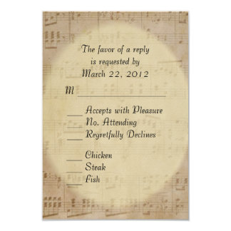 Music Wedding Theme 9 Cm X 13 Cm Invitation Card