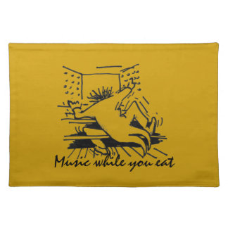 Music while you eat - orange placemat