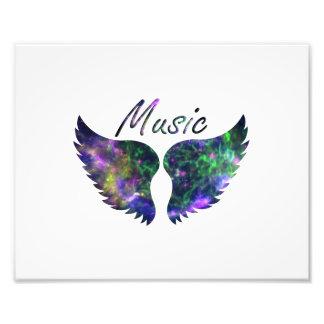 Music wings nova 1 purple green photograph