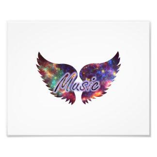 Music wings overlay 1 photo print