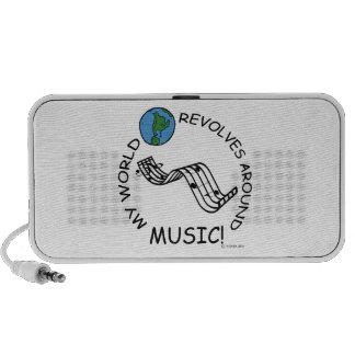 Music - World Revolves Around Laptop Speakers