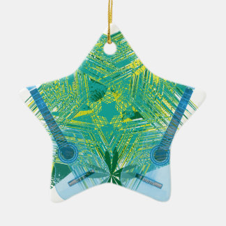 musica ceramic star decoration