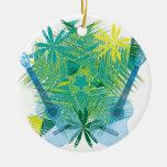 musica round ceramic decoration