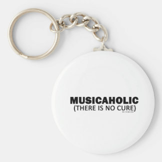 Musicaholic (There Is No Cure) Basic Round Button Key Ring