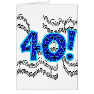 Musical 40th Birthday Greeting Card
