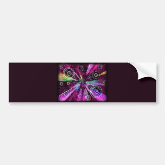 Musical Abstract Bumper Sticker