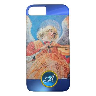 MUSICAL ANGEL , Blue Sapphire Monogram iPhone 7 Case
