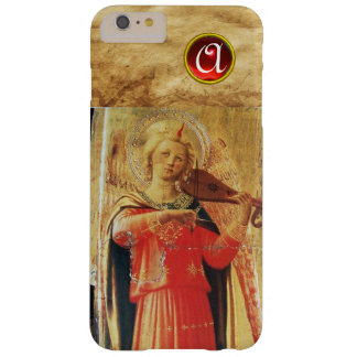 MUSICAL ANGEL IN RED AND GOLD Gemstone Monogram Barely There iPhone 6 Plus Case