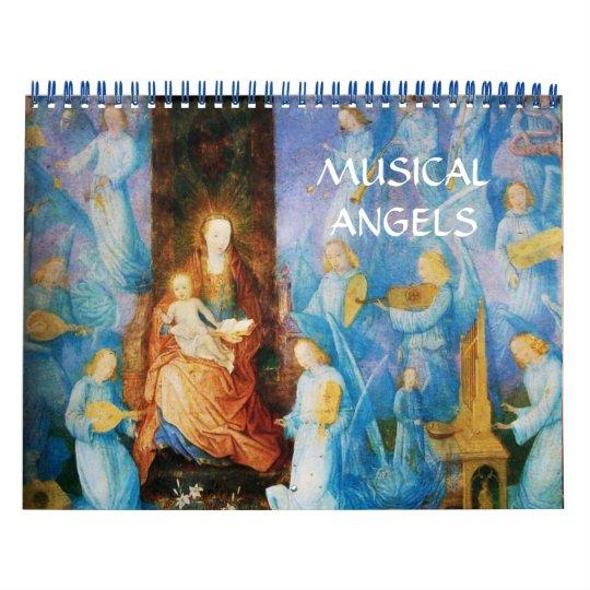 MUSICAL ANGELS FINE ART COLLECTION 2016 WALL CALENDAR