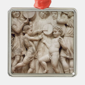 Musical angels, relief from the Cantoria Christmas Ornament
