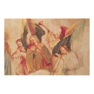 Musical Angels Wood Print