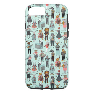 Musical Animal Alphabet - Blue / Andrea Lauren iPhone 7 Case