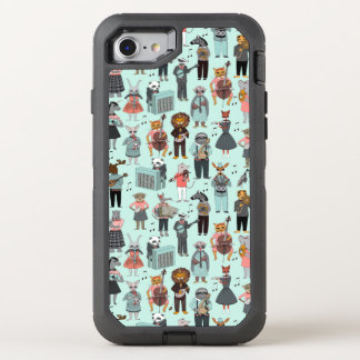 Musical Animal Alphabet - Blue / Andrea Lauren OtterBox Defender iPhone 7 Case