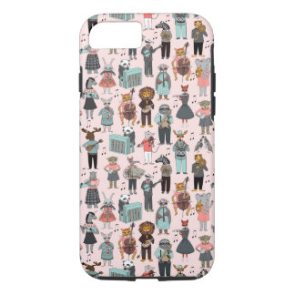 Musical Animal Alphabet - Pink / Andrea Lauren iPhone 7 Case