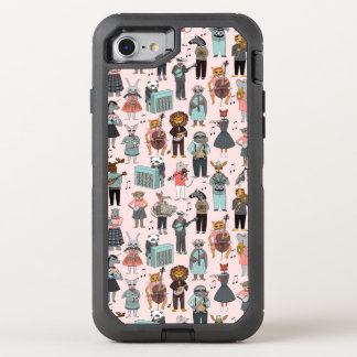 Musical Animal Alphabet - Pink / Andrea Lauren OtterBox Defender iPhone 7 Case