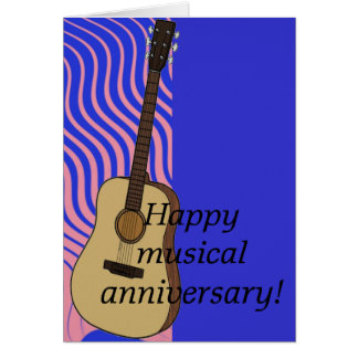 Musical anniversary greeting card