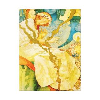 Musical Art Nouveau Vintage Gallery Wrapped Canvas