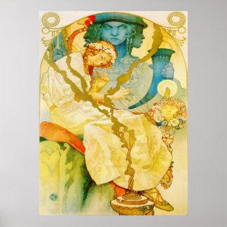 Musical Art Nouveau Vintage Print
