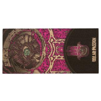 Musical Awakening (Pink) Wood USB 2.0 Flash Drive