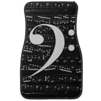 Musical Bass Clef sheet music Car Mat