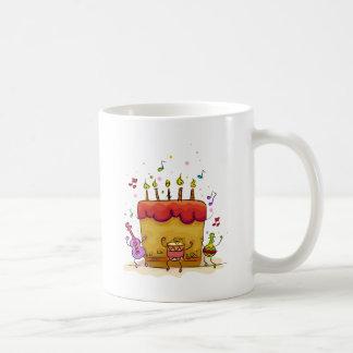 Musical Birthday Cake Basic White Mug