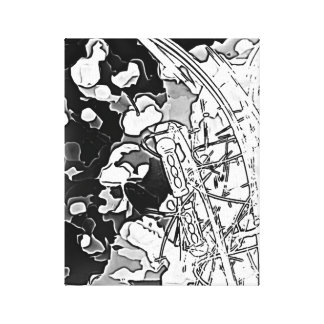 Musical - black and white music impression canvas prints
