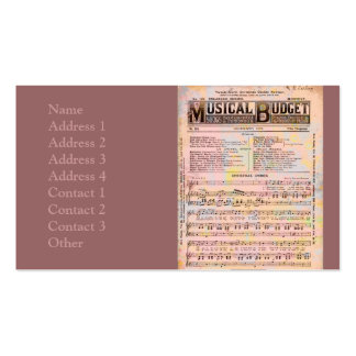 Musical Budget Business Cards