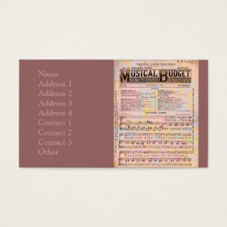 Musical Budget Christmas Business Card
