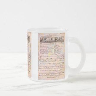 Musical Budget Christmas Frosted Glass Mug