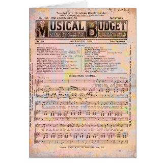 Musical Budget Christmas Greeting Card