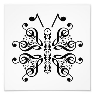 Musical Butterfly Music Note Scroll Design Photo