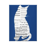 Musical Cat Canvas Prints