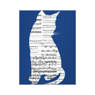 Musical Cat Gallery Wrap Canvas