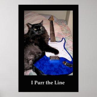 Musical Cat Poster