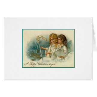 Musical Christmas Angels Card