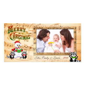 Musical Christmas Greetings Personalized Photo Card