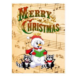 Musical Christmas Greetings Post Cards