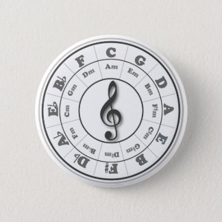 Musical Circle of Fifths 6 Cm Round Badge