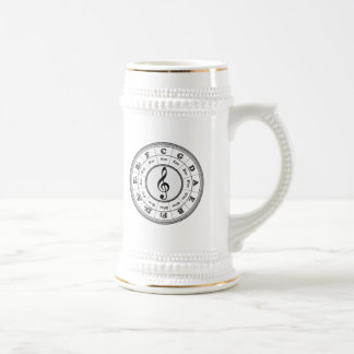 Musical Circle of Fifths Beer Steins