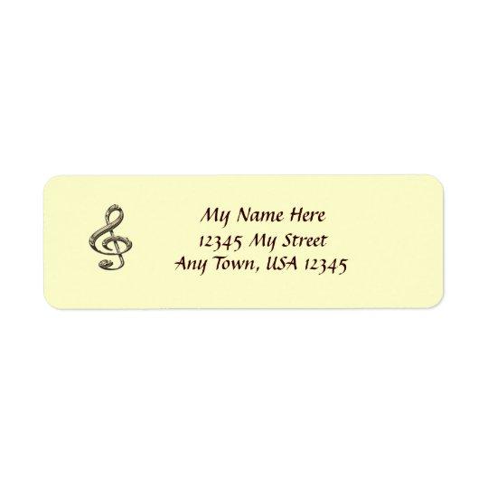 Musical Clef Return Address Labels