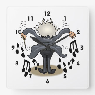 Musical Conductor Square Decorative Wall Clock