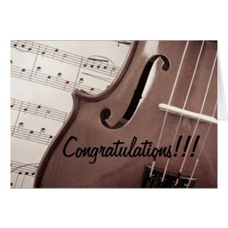 Musical Congratulations Card