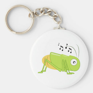 Musical Cricket Basic Round Button Key Ring