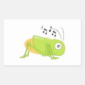 Musical Cricket Rectangle Sticker