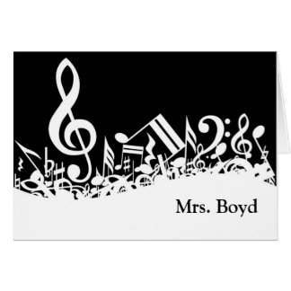 Musical Customizable Note Cards